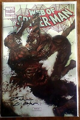 Web Of Spiderman No 1 Zombie Variant Signed Comic Tom DeFalco