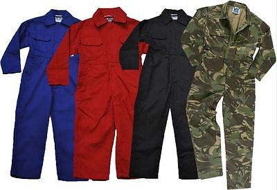 New Kids Childs Childrens Boys & Girls Boilersuit Overalls Coverall Boiler Suit