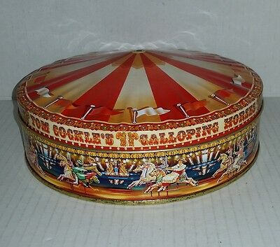 Carousel merry-go-round empty biscuit tin Tom Cockle's Galloping Horses