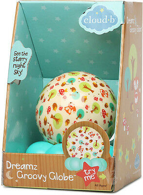 New NIB Woodlands Cloud-b Sweet Dreamz To Go Groovy Light-up Globe