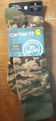 Carhartt Men's Camo Boot Socks Cold Weather Olive XL NWT