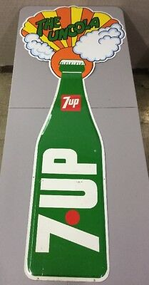 """Vintage 7-UP The Uncola Large Rare Metal Sign 71""""x29"""""""