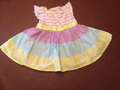 George Pretty Summer Dress Age 3-6 Months Purple And Green