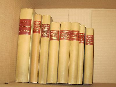 Vintage Antique Napoleon Bonaparte French lot of 8. 1899-1932 Matching bindings