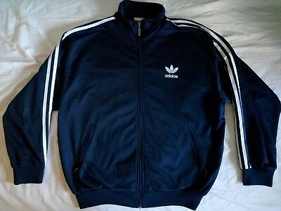 adidas vintage jacket old logo blue
