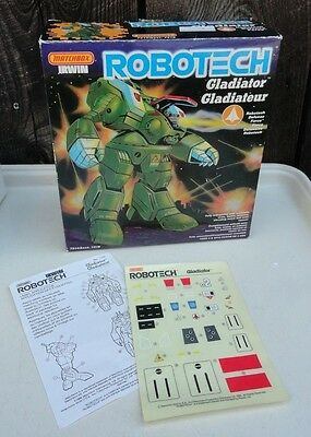 ROBOTECH Matchbox vintage 1985 Box ONLY for dispaly Gladiator Stickers paperwork