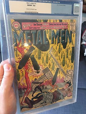 Metal Men #1 CGC (old label) 7.0 !!  1st Metal Men title.  Movie Rumors!  cbcs