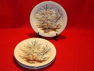 """Mikasa Stylemanor """" Dune Grass """" FD832 Lot Of 4 Dinner Plates  Perfect Condition"""