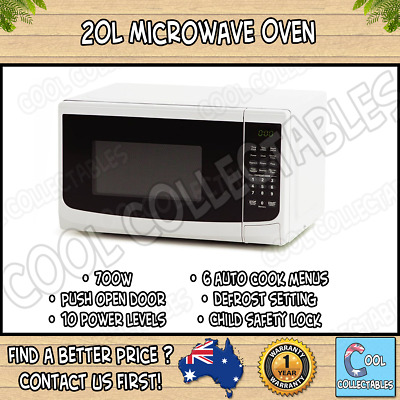 20L Microwave Oven - 700w / Child Lock - 1 Year Warranty / 10 Power Levels