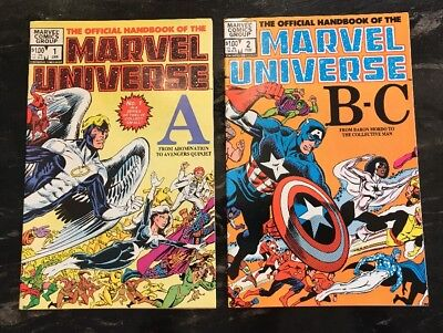 Official Handbook of the Marvel Universe #1, 2 1983 GC Vintage Superheroes