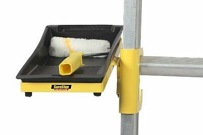 "Sure Step Ladder 4"" Paint Tray Holder Hands Free Safety Device Accessory"