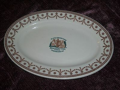 Shenango China Hotel Restaurant ware serving platter Bungalow Cafe Dearborn Mich
