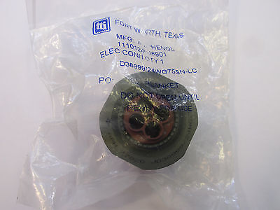 Amphenol 24WG75SN Circular Mil Connector Jamnut, New without contacts
