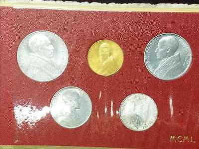 1950 Vatican 5 Coin Set including scarce 100 Lire Gold Coin
