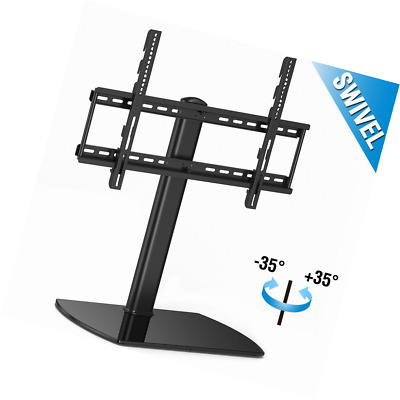 Fitueyes Universal Table Top Pedestal TV Stand with Swivel Bracket for 32 to 65