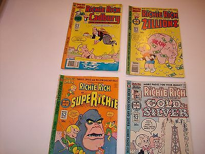 Lot of 4 RICHIE RICH HARVEY BRONZE AGE GIANTS 2,11,16,20 50+ pages Yikes!
