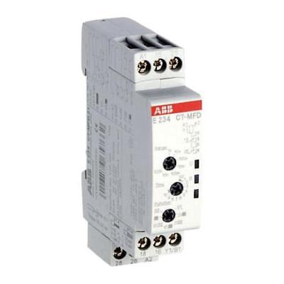1 x Abb Multi Function Time Delay Relay, 0.05 s-100h DPDT, 2 Contacts