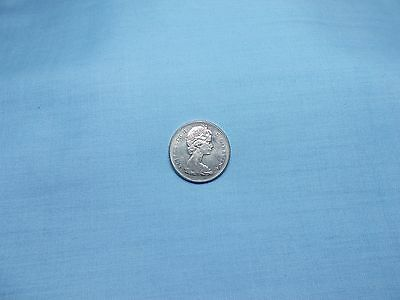 """1968 Canada 5 Cent Coin """"AU""""  KM#60.1  Composition is Nickel"""