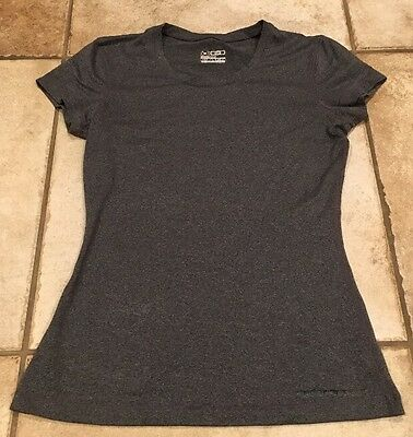 Under Armour Women's Gray Fitted T-Shirt Size Small