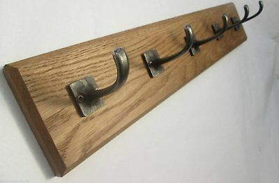 IRONMONGERY WORLD®9 sizes SOLID OAK WOODEN COAT RACK HOOKS HANGER UTILITY RAIL 2