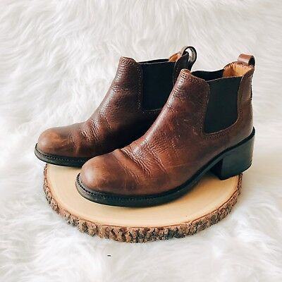 Cole Haan Brown Leather Flex Comfort Heeled Ankle Boots Women's Sz 9