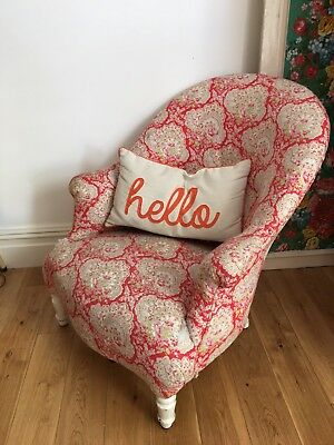 Antique Nursing Chair Covered In Vintage Cath Kidston Fabric
