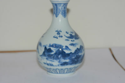Chinese Blue And White  Early 20Th Century Porcelain Small Vase
