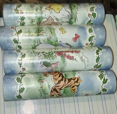 4 Rolls Classic Winnie the Pooh Wallpaper Border 'Sunworthy' Self-Sticking