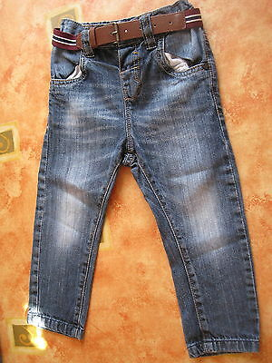 1 Pair Of Boys Jeans With A Belt Age 18-24 Months From Next