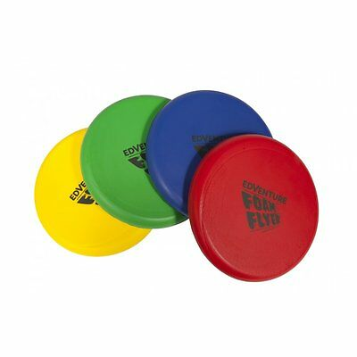 Set Of 4 Childrens Quality Foam Flyers Frisbee Outdoor Toy