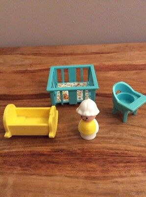 Fisher Price Little People Nursery Garden Play House Picclick Uk