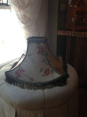 1940's Vintage Embroidered Silk Pagoda Shape Lampshade