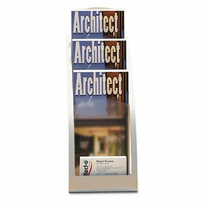 Deflect-o 693645 Three-Tier Leaflet Holder - Silver, Other Colors