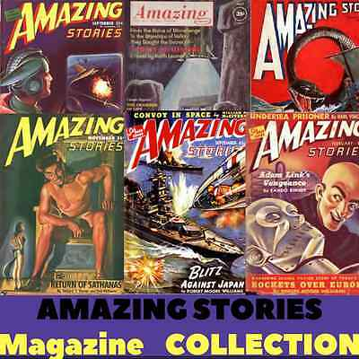 Amazing Stories Science Fiction Pulp Magazine  Retro Vintage - 97 Issues - 1 DVD