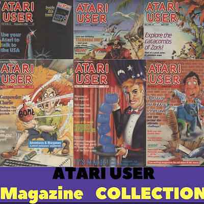 ATARI USER MAGAZINE! Complete Collection 43 ISSUES! Atari, Retro Gaming on 1 DVD