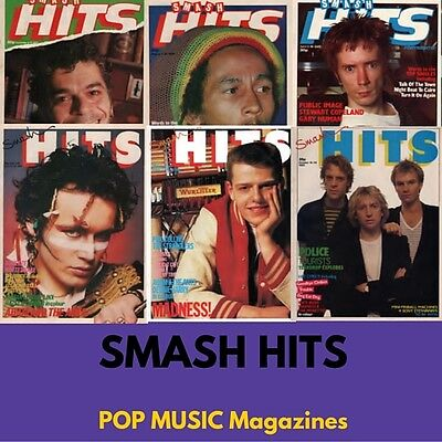 Vintage POP Retro Music SMASH HITS 70's 80's Police Madonna 60 Magazines DataDVD
