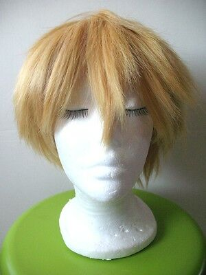 Perruque cosplay blonde courte