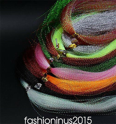 10colors Flashabou/Holographic Tinsel, Flash Tinsel, Fly Tying Material/Dry Fly