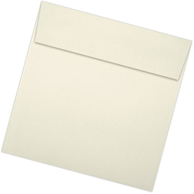 6 1/2 x 6 1/2 Square Envelopes - Natural (50 Qty) | Perfect for Invitations, Ann
