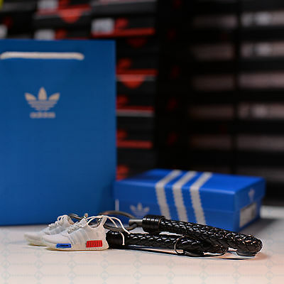 """Kicksmini """"NMD White"""" 3d Sneaker Keychain with Sneaker Box and Bag Original NMD"""