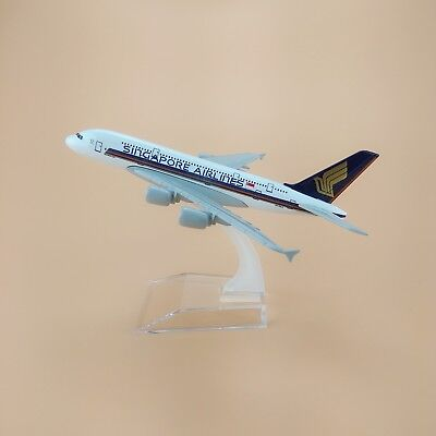 16cm Airplane Model Plane Air Singapore Airlines Airbus 380 A380 Aircraft Model