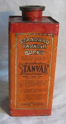 Antique Advertising Paint Style Varnish Tin