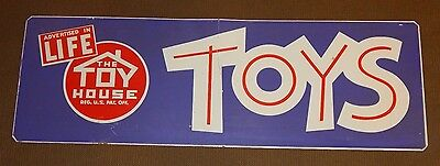 RARE old metal The Toy House Toys Advertising Store Display Sign