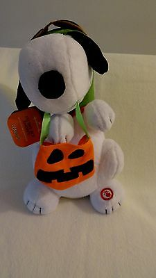 "Hallmark Peanuts Flying Ace Halloween 10"" Snoopy w/Sound & Motion- New with Tag!"