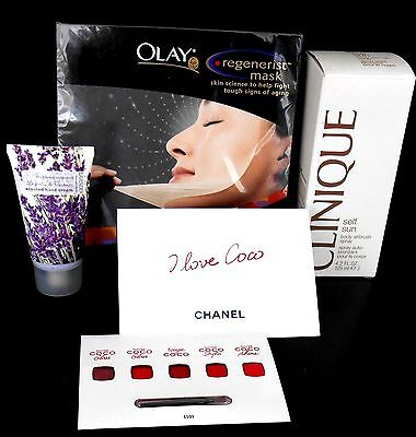 CHANEL, CLINIQUE, OLAY & UNIVERSAL - 4 mixed items, all brand new