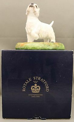 "Royale Stratford Dog Figure - ""White Terrier"" ? - From Staffordshire in England."