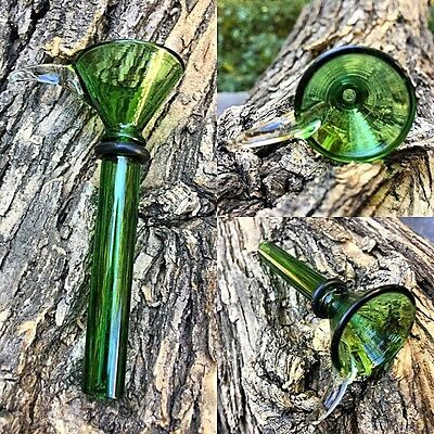 9mm Green Male Glass Slide Bowl - Fast Free USA Shipping