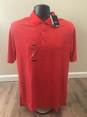 Nike Golf Men's Victory Stripe Polo DARING RED/WHITE SMALL 585748-657