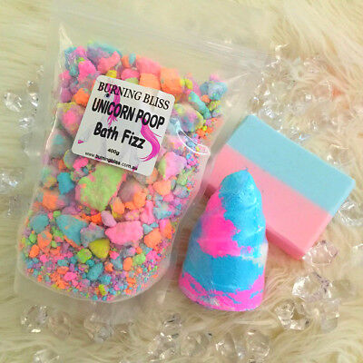 UNICORN RAINBOW BUBBLEGUM GIFT PACK- Soap,Bath Bomb,Magic Dust- GREAT GIFT!