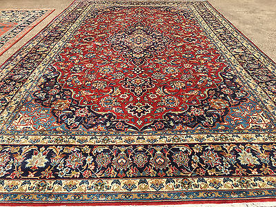 10x17 HAND KNOTTED PERSIAN IRAN AREA RUG WOVEN WOOL rugs 10 x 17 antique 9 11 16